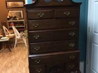 "We are offering a walnut highboy chest. 353/4"" wide,"