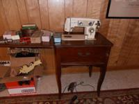 Non working Elgin Sewing Machine with many, many