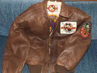Walt Disney unisex Brown Leather JacketDimensions: