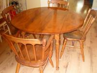 Queen Ann table is drop leaf with one additional leaf.