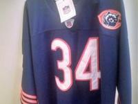 Walter Payton #34 throwback Jersey, size 54 with all