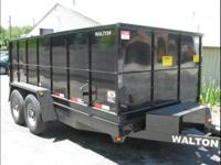 Brand New 14'Dump Trailer 15680 GVW Powder Coated In