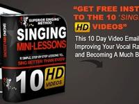 Learn how to sing by watching free videos that include