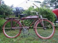 Hello, We'd like to find a 1940's JC Higgins Mens Bike