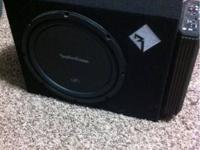 "I have a nice Rockford fosgate 12"" sub in single"