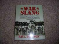 New hardback book, in perfect condition. War slang from