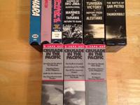 Selling 3 single vhs and 2 sets of 6 tapes each. All
