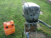 25HP Deluxe Ward Sea King Twin Outboard Motor. Model