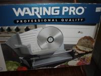Waring Pro Professional Quality Food Slicer--Brand new