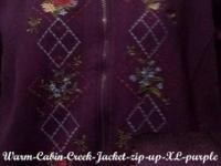 """Warm"" Cabin Creek-Jacket zip-up (XL) purple"