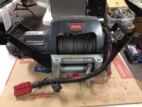 Warn Winch-- 9.5 ti Portable w / Installing Brace.  We