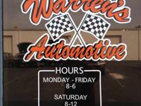 Warren's Automotive we service all makes and models
