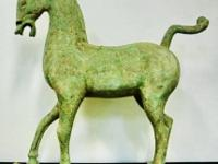 This warring state cast bronze war horse came from the