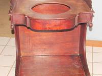 Wash Stand, Bow front; Early American, Sheraton Style: