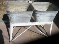 Large Double Wash Tubs, (used for laundry ), NO Rust in