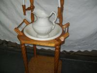 Wash stand with barley twist legs no breaks or repairs