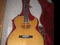 This is a very nice Acoustic Electric Guitar By George