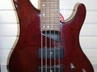 We are currently selling a red Washburn bass guitar,