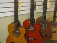 Three beautiful new Washburn Acoustic Electric