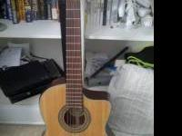 BEAUTIFUL ACOUSTIC/ELECTRIC GUITAR WITH WIDE FRET BOARD