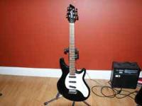 Nice Washburn BT-3 guitar. Comes with stand/holder