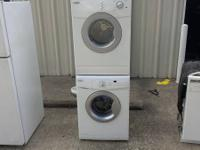 stackable washer and dryer electric in excellent