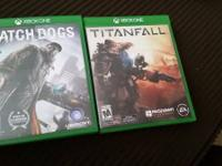 Watch dogs $35 Titan Fall $35 Both for $60 Call of text