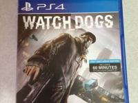 Rarely used copy of Watch dogs for PS4 in great