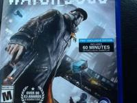 I'm offering the game Watchdogs for PS4. It is in