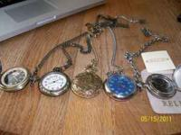 I have 5 Pocket watches for sale i want $60 o.b.o for