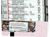 I have eight (4) River Cats vouchers helpful for one