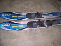 Wide Trax water skis - barely used - no longer own a