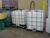 clean 300 gal heavy duty food grade plastic