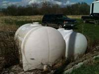 525 gallon water tank $300 225 gallon water tank $150