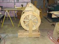 Working Water Wheel. Four feet tall. Includes electric