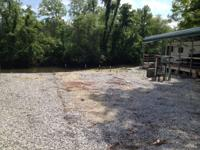 Water front camping area on the Catawba River At