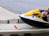 New personal watercraft drive on dock by