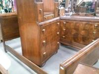 Beautiful 1950's Waterfall bedroom set.  Full size