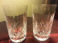 Waterford Crystal 2 10 oz. Tumblers (Round bottom).