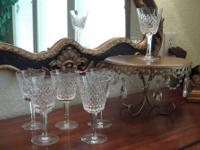 6 beautiful Waterford Alana crystal wine goblets. They