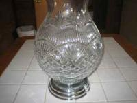 Perfect Condition Waterford Hurricane Lamp. Over