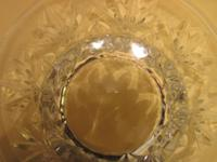 Low, large width clear crystal decorative bowl, made by