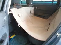 Protect back seat with this waterproof cover.  Use