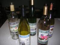 Collection of seven wine bottles from Finger Lakes