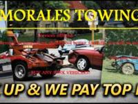 MORALES TOWING Services offered: - Flatbed services