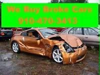 We buy broke Damaged Unwanted vehicles of all kinds