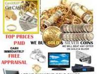 We Buy Gold, Silver, Diamonds, and Coins Please feel