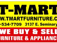 We BUY excellent clean used FURNITURE for CASH! Bring