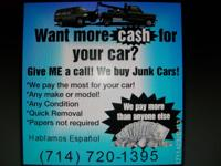 We will buy your car running or not any kind any