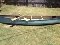 Sleek straight tracking canoe that is easy to paddle.
